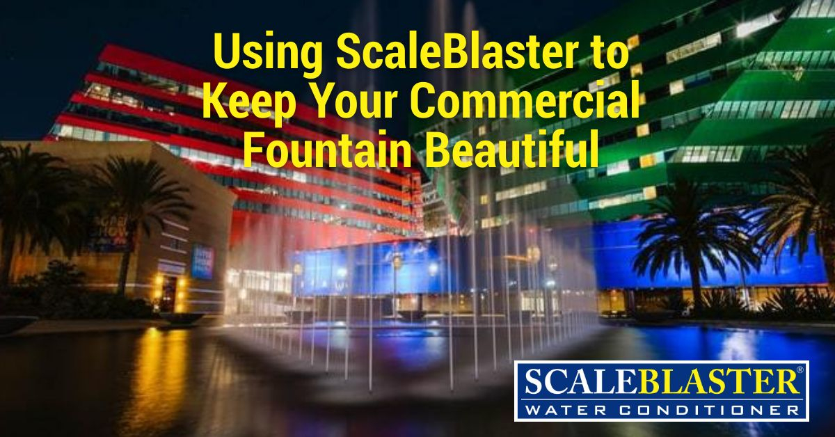 Commercial Fountain 1 - Using ScaleBlaster to Keep Your Commercial Fountain Beautiful