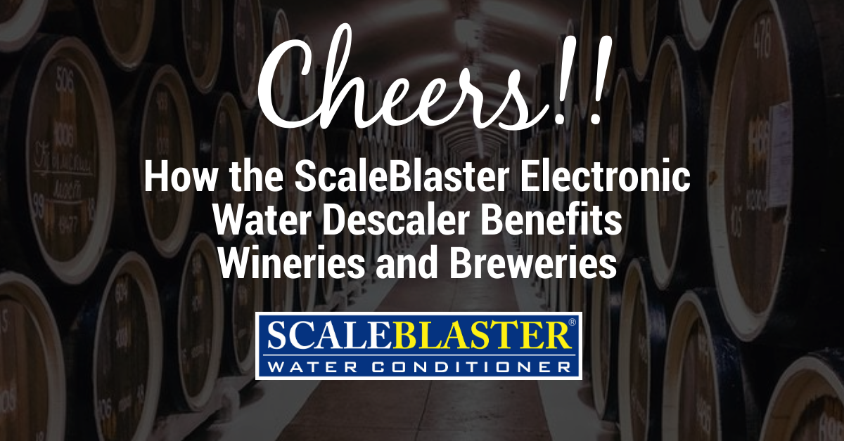 Cheers - Cheers!! How the ScaleBlaster Electronic Water Descaler Benefits Wineries and Breweries